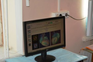 6 На мониторе кардиовизора - сердце